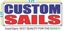CUSTOM SAILS Banner Sign NEW Larger Size for Sail Sailing Boat