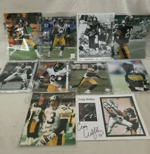 LOT OF 10 Pittsburgh Steelers Autographed Pictures PHOTOS Signed