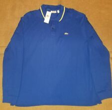 LACOSTE LONG SLEEVE POLO SHIRT ROYAL BLUE 3XL BRAND NEW MSRP $145 MAKE AN OFFER!