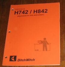 Ditch Witch H742 H842 Attachments For 7020 8020 8020t Parts Book
