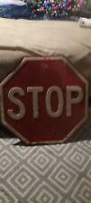 Vintage California 24 inch Stop Sign porcelyn.