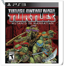 PS3 Teenage Mutant Ninja Turtles Mutants in Manhat SONY Games Activision Action