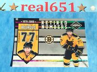 2010 Limited Silver #1 RAY BOURQUE /49 Retired Numbers SSP | Boston Bruins HOF