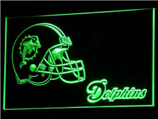 New Custom Miami Dolphins LED Neon Light Signs Bar Man Cave 7 colors to choose