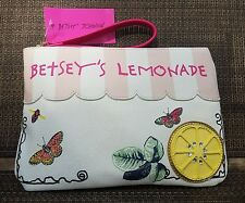 NWT Betsey Johnson Lemonade Stand Large Wristlet  MSRP $65