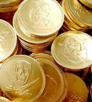 Milk Chocolate Gold Foiled Pirate Coins Sweets Candy Parties Qty 10 – 100 or 1kg