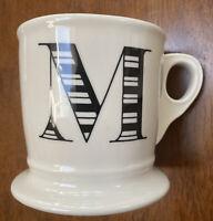 "Anthropologie ""M"" Monogram Mug Initial Letter Coffee Tea Cup"