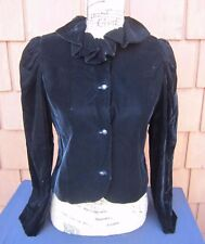 Vintage BILL BLASS COLLECTION III Giorgio Beverly Hills Black Velvet Jacket S 12