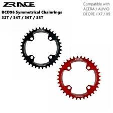 ZRACE горный велосипед цепные кольца передняя звездочка BCD96 Symmetrical передняя звездочка 32 34 36 38 т ALIVIO