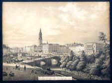 Göteborg - Götheborg - Schweden - Lithographie 1855