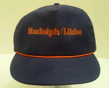 Vintage Rudolph Libbe Blue and Orange Rope Front Snapback Hat Made in USA