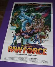 RAW FORCE MOVIE POSTER KUNG FU CANNIBALS ORIGINAL ONE SHEET