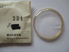 Original BULOVA 33,4mm Uhrenglas Watch Crystal mit Haltering neu