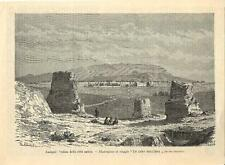 Stampa antica KASHGAR KASHI panorama Xinjiang China Cina 1891 Old antique print