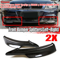 REAL Carbon Fiber Front Bumper Splitter Lip For BMW E90 E91 335i 328i LCI M-tech