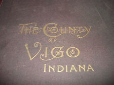 VIGO COUNTY INDIANA,IMPERIAL ATLAS AND ART FOLIO,1895 ORIGINAL,TERRE HAUTE