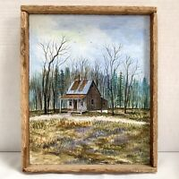 Folk Art Oil Painting Jeff Stokes Signed /Homestead in Lac Etchemin Quebec