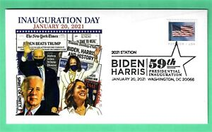 BIDEN-HARRIS 2021 INAUGURATION COVER, PANDA CACHET - PICTORIAL CANCEL