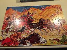 VTG Antique Victory Jig Saw Plywood Puzzle  Ambush Adventure Series