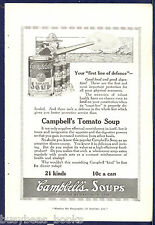 1916 Campbell's Soup advertisement, large naval gun, Campbell's Kid WWI