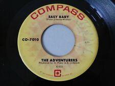 "ORIGINAL NORTHERN SOUL 7"" R&B STOCK RECORD EASY BABY THE ADVENTURERS COMPASS"