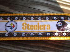 Key Fob, Key Chain, Wrist key Pittsburgh Steelers Football with webbing USA