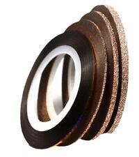 Zierstreifen Stripes selbstklebend Tape Nail Art  Rosé Gold 4 St. 1,1.2,3 mm Set