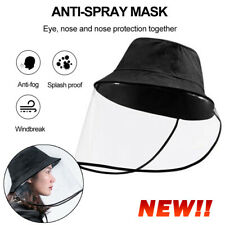 Fisherman Cap+Protective Clear Hat Saliva-proof Dust-proof Full Face Hat New EN