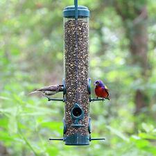 Transparent Outdoor Hanging 6 Ports Tube Bird Feeder - 480