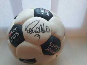 Unique soccer ball Poker Stars autographed by Ronaldo