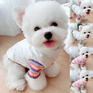Waterproof Dog Clothes & Sweater Warm Winter Coat Puppy Cat Knit Vest Jacket XS