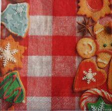 20 X Tovaglioli di carta Pieno Festa Di Natale biscotti Confezione Pranzo Tavola 85