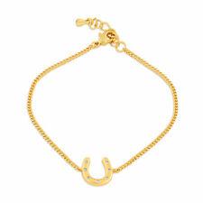 Horseshoe Bracelet Gold, Horseshoe Charm Bracelet
