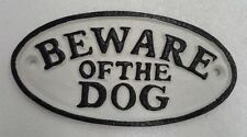 BEWARE OF THE DOG CASTIRON SIGN
