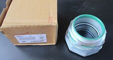 """3 1/2"""" Malleable Iron Straight LiquidTight Connector w/Ins Throat SLT60T"""