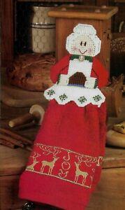 MRS SANTA TOWEL TOPPER CHRISTMAS PLASTIC CANVAS PATTERN INSTRUCTIONS