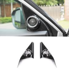 Carbon Fiber Inner Front Door Speaker Cover Trim For Honda Civic 10th 2016-2018