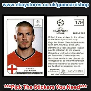 Panini Champions League 2001/2002 (100 to 209)  *Select the Stickers You Need*