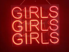"New Girls Girls Girls Red For Gift Bar Pub Acrylic Neon Light Sign 14"" Fast Ship"
