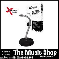 Xtreme MA347 Microphone Desk Stand 13cm Diameter Cast Base 30cm Gooseneck