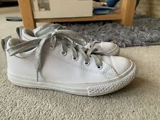 CONVERSE WHITE LEATHER TRAINERS SIZE UK 2