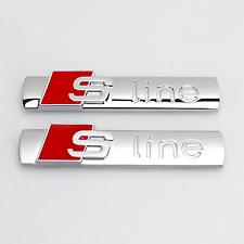 Audi Sline S-line 2Pz Logo Stemma Emblema BADGE Laterale A1 A3 A4 A5 A6 A7 Q3 Q5