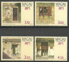 Macau - Fenster und Türen Satz postfrisch 1992 Mi. 690-693