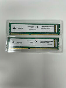 2 X Corsair Value Select VS2GB1333D3 2GB 1333MHz 1Rx8 PC3-10600 DDR3 RAM Memory