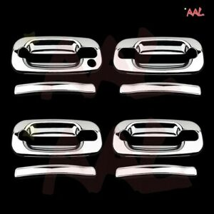 AAL FOR CADILLAC ESCALADE/CHEVY AVALANCHE 2002-04 05 06 CHROME DOOR HANDLE COVER