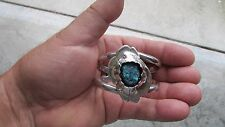 Authentic Vintage Native American hand crafted Turquoise  Cuff Bracelet ESTATE