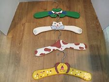 Wooden Animal Coat Hangers Set Of Four