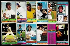 1976 OPC O PEE CHEE TOPPS MLB BASEBALL CARD ERROR & VARIATION 133-264 SEE LIST