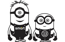 Smart Car Brabus Fortwo, Forfour, Roadster Minion Vinyl Car Decal Sticker