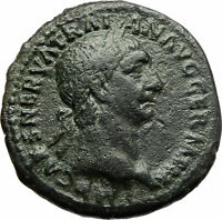 TRAJAN 98AD Large Authentic Genuine Ancient Roman Coin Victory i76753